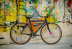 F550 Matte Black (Factory Five) Tags: china pink black color bike bicycle graffiti neon track factory hand shanghai 5 five gear made fixed fixie splash custom lattice matte aluminium chainring f550