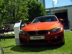 M4 (BenGPhotos) Tags: new orange sports car fast german wharf bmw canary coupe supercar m4 2014 straight6 motorexpo