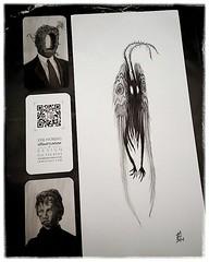 140719 I bought a Mothman print from Jose Moreno @sfjapantown J-Pop Festival (Gemma Geluz - http://gemmageluz.etsy.com) Tags: sanfrancisco art print businesscards japantown vignette mothman artprint josemoreno jpopfestival galaxys5