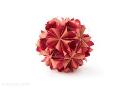 Маша, с Днем Рождения!!! (ronatka) Tags: birthday pink red gift rectangle modularorigami kusudama mariasinayskaya vogpaper rectangle12