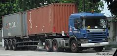 Scania 124C 420 (Waverly Fan) Tags: port truck gateway psa inter choon poh tiong haulage