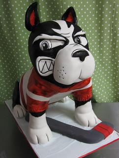 BU Mascot Dog Cake med