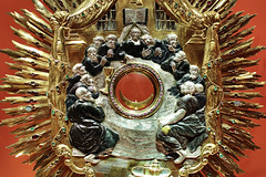 Last Supper - detail of monstrance (made in 1732) - Archdiocese Museum in Poznan (Poland)