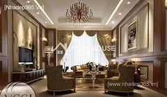 Thiết kế nội thất phòng khách tân cổ điển_005