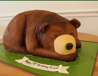 Bear cozy cake