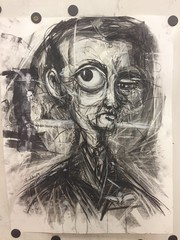 Faces Forgotten (Lincoln Beddoe) Tags: old portrait dark faces drawing sinister charcoal aged aging charcoaldrawings charcoalart drawingcharcoal portmacquariephotographer portmacquarieartist lincolnbeddoe charcoalandinkart