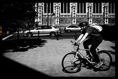 IMG_0837-BW (alvin_kcchuan) Tags: christchurch blackandwhite cycling streetsphotography newzealandsouthisland2008
