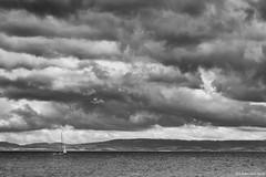 plain sailing (rich lewis) Tags: sea sky blackandwhite bw monochrome clouds mono coast boat coastal richlewis