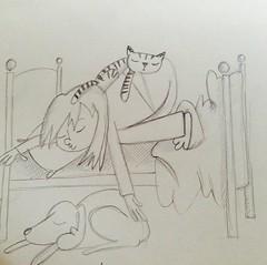 Bedtime (JBIllustrations) Tags: pencil children sketch doodle bedtime asleep