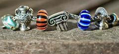 My Grecian bracelet. (Athanassia) Tags: glass armband silver charm bracelet bead glas kraal zilver trollbeads bedel redbalifrog melinaworldjewelry