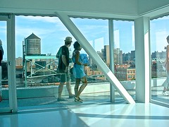 New Museum of Contemporary Art (-jamesstave-) Tags: city nyc urban usa art window skyline architecture modern downtown gallery cityscape view noho unitedstates terrace manhattan contemporary balcony space watertower walkway artists metropolitan