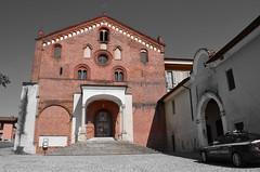 MORIMONDO ABBEY (Bruno Viganò) Tags: italy milan colour church abbey nikon italia catholic colore milano chiesa selective selectivecolour abbazia cattolica morimondo abbaziadimorimondo seleziona d5100