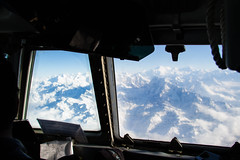 the best seat in the house (julie trueman) Tags: nepal snow mountains plane cockpit peaks everest himalayas