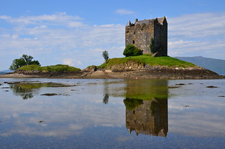 Castle Stalker,Appin,Argyll reflections.