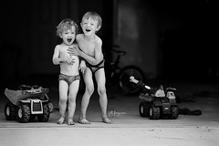 4 (Jill Ferguson Photography) Tags: family people water garden outside mud outdoor cousins garage graduation messy myboys undies swords swordfight ourhome ourlife