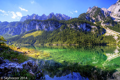 Beautiful day in the Alps (Markus T. Berger  www.mtberger-photography.com) Tags: vacation lake mountains alps nature beautiful reflections landscape austria oostenrijk sterreich amazing hiking sunny stunning mountainlake gosau austrianalps vorderergosausee skyfreezer