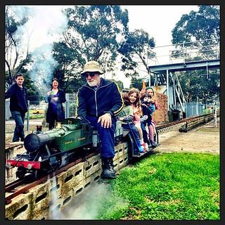 365/229 • all aboard!  • #2014_ig_229 #toot #locamotives #steamtrain #steamengines #trains #moorabbin #birthday #friends #love