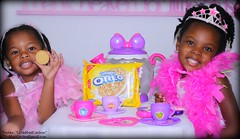 TeaParty1 (themindcatcher1) Tags: kids sisters children cookie princess oreo toddlers teaparty teaset littlegirls pinkdress pinkfeatherboa oreocookies blackkids africanamericanchildren goldenoreo littlemindcatchers