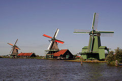 Mulini a vento, Zaanse Schans, Olanda, Nederland, Holland, (ocramqcg) Tags: holland mill moulin nederland molino agosto molen olanda mulino zaanse schans 2012 moulen