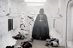 Darth Vader marches through the dead rebels (Tom Simpson) Tags: film vintage rebel starwars stormtrooper darthvader rebels blockaderunner tantiveiv