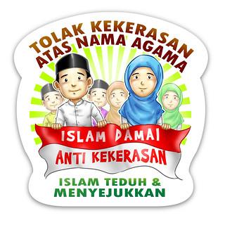 Stiker Tolak Kekerasan Atas Nama Agama
