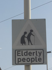 Home Made Elderly Sign Amblecote Staffs (Bridgemarker Tim) Tags: roadsigns poems westmidlands ageism amblecote
