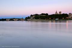 Creamy Avignon (Marc Haegeman Photography) Tags: longexposure france evening bridges rhne rivers provence avignon riverbanks vaucluse eveningmood marchaegeman nikond600 nikon1635mmf4afsvrged