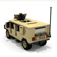 BRIX Military HMMWV V1.0 Squareback Tan B (IK) Tags: lego military hummer ldd hummvee