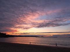 Sunset at Saint Jean de Luz (DaveKav) Tags: sunset france beach clouds bay dusk olympus 64 paysbasque saintjeandeluz