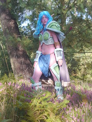 Shooting Huntress - World of Warcraft - 2014-08-07- P1900588 (styeb) Tags: shooting shoot hostens 2014 aout 07 lac water landes huntress world warcraft wow blizzard cosplay