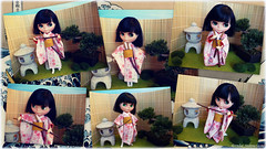 Zen - Blythe A Day September 2014 - Dylan in her Japanese Zen Garden