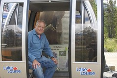 Jim in gondola car (jjknitis) Tags: gondola lakelouise banffnationalpark lakelouisevillage