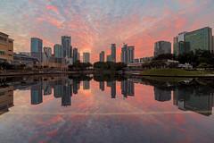 Untitled... (Hafidz Abdul Kadir) Tags: reflection sunrise cityscape malaysia burningsky kualalumpur singleshot lr56 dualiso