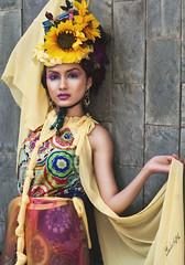 Sun Goddess Surya 50mm (akachoke) Tags: portrait people woman colors girl beauty fashion lady canon eos 50mm prime model singapore flickr goddess surya niftyfifty xti 400d