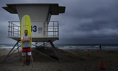 LJ SHORES 17/Shut Up and Surf (Detective Steve) Tags: ocean california selfportrait tattoo self surf sandiego surfer surfing attitude pacificocean surfboard longboard lajollashores lifeguardtower surferdude