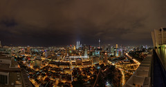After a downpour (vedd) Tags: longexposure panorama night malaysia kualalumpur hdr klcc kltower regalia petronastwintowers canonefs1022mm publicbank vedd canoneos60d