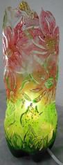 Luminaria fantasia (Ione logullo(www.brechodeideias.com)) Tags: pet flores sol riodejaneiro rosas garrafa abajur luminaria lampada lâmpada ventilador tecido luminária juta chitão verniz