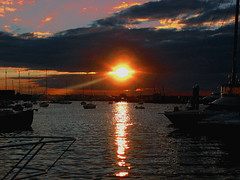 Bumpin' On Sunset (Professor Bop) Tags: professorbop drjazz canonpowershots3is newportrhodeisland summer sunset beach harbor bumpinonsunset mosca