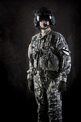 The Stig...Army edition. (Jerry Slaughter) Tags: soldier army military helmet camo combat
