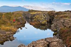 Þingvellir (geh2012) Tags: red clouds iceland thingvellir þingvellir ísland ský geh rauður gunnareiríkurhauksson gunnareiríkur