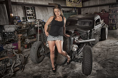 Rat Rod Shoot (Evocatography) Tags: car model rat shoot rod pinup
