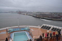 Morning Arrival In Brooklyn (Vintage Alexandra) Tags: ocean new york city travel 2 usa brooklyn ship united mary queen states cunard liner