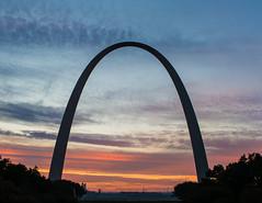 Gateway Arch (JB_1984) Tags: usa cloud colour sunrise dawn arch unitedstates stlouis mo missouri gatewayarch archway parabola catenaryarch