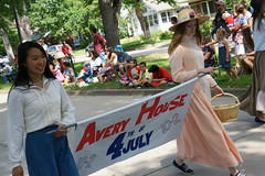 4th of July Parade 2015 (City of Fort Collins, CO) Tags: street blue friends red music white house kids america fun community fort trolley flag crowd families july parade bands marching fourth collins avery floats