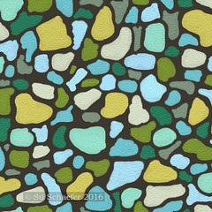 'Tessera 3 in sandstone, a free form mosaic by Su_G': design detail (part-design only) (Su_G) Tags: sug 2017 spoonflower spoonflowercontest turquoise chartreuse multicolored multicoloured blues greens mosaic spoonflowermosaicdesignchallenge spoonflowerdesignchallenge designchallenge tessera tesserae tessellae tessella shard sandstonetexture sandstone designdetail designimagedetail freeformmosaic modern abstract