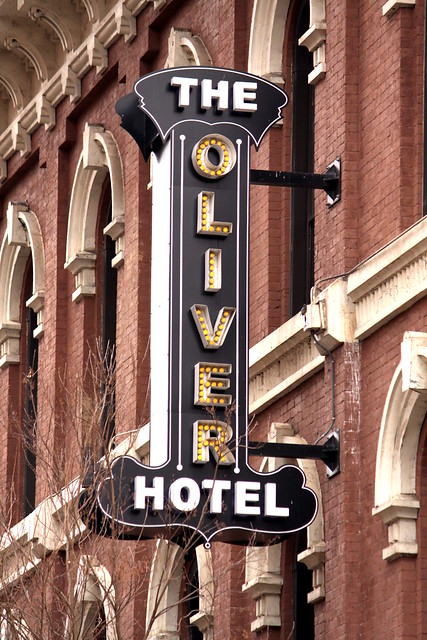The Oliver Hotel sign - Knoxville