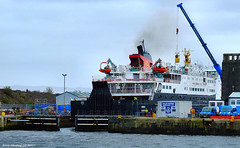 Scotland Greenock car ferry Hebrides safely in dry dock 13 March 2017 by Anne MacKay (Anne MacKay images of interest & wonder) Tags: scotland greenock caledonian macbrayne car ferry hebrides ship dry dock xs1 13 march 2017 picture by anne mackay