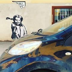 Pippi Parking (David Abresparr) Tags: pippi pippilångstrump pippilongstocking astridlindgren streetart mural muralmålning parkering parking car bil midsommarkransen stockholm reflections spegling streetgirl