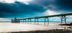Clevedon Pier on a milky River Severn (oliver.herbold) Tags: longexposure england canon river pier big britain wideangle somerset estuary severn riversevern lee clevedon stopper langzeitbelichtung clevedonpier weitwinkel ndfilter severnestuary 70d bigstopper