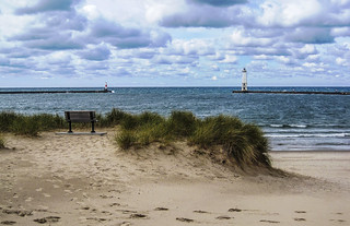Beach at Frankfort, Michigan